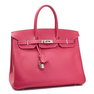 Hermes Birkin 35, Epsom Leather, Rose Tyrien Color