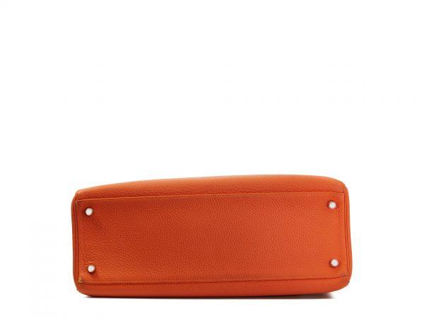 Hermes Kelly 35, Taurillon Clemance leather, Feu colour