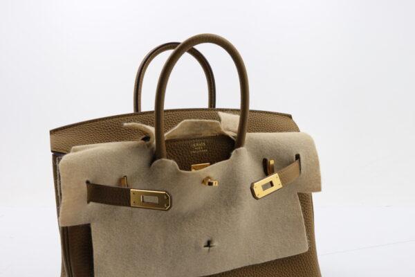 Hermes Birkin 25 cuir togo bronze dore