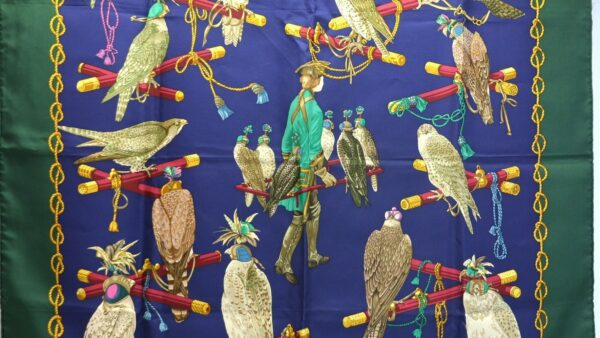 """Foulard Hermès """"Les Oiseaux du Roy"""""""