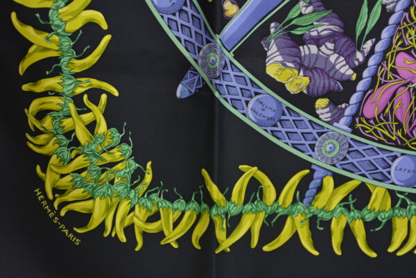 Foulard en soie Hermès Aux Pays des Épice
