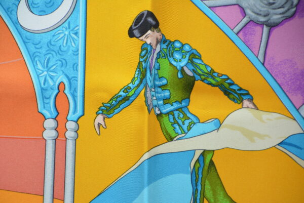 "Foulard Hermès ""Plaza de Toros' by Hubert de Watrigant"""