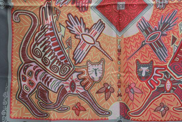 Foulard Hermès Légende Kuna Peuple de Panama
