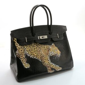 Sac Hermès personnalisé, Birkin 35 en crocodile
