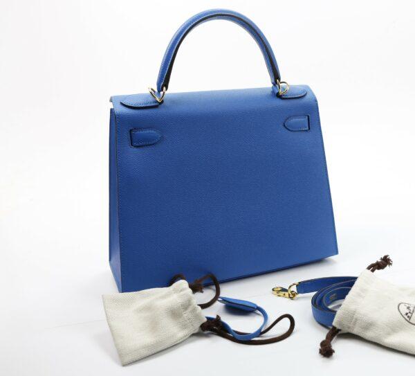 Hermes Kelly 28 bleu