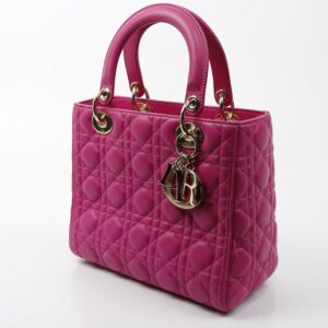 Lady Dior en cuir rose