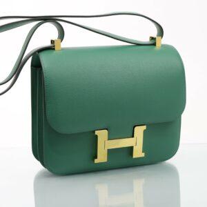 Hermes Constance 24 vert