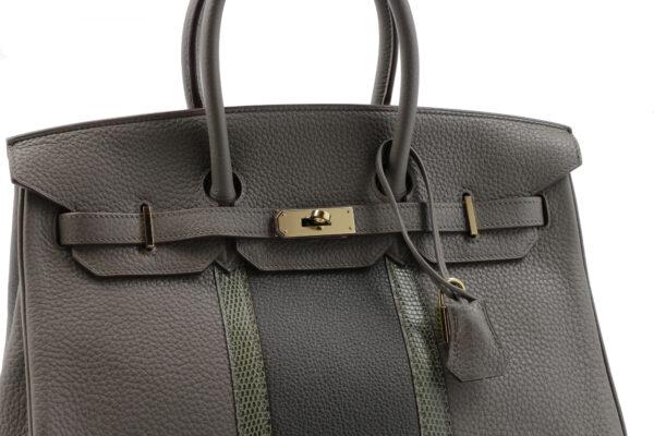 Hermes Birkin 35 cuir exotique Multicolore