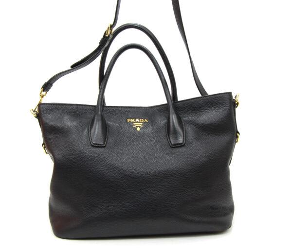 sac Prada cuir noir