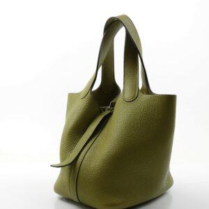 Hermès Picotin cuir Taurillon Clémence Vert