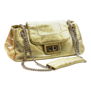 Chanel perfore cuir d'or