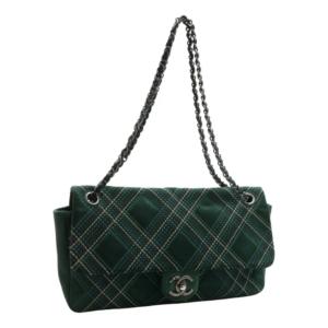 Chanel Timeless/ Classique Denim Vert