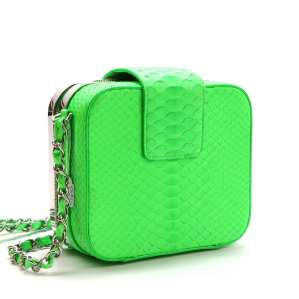 Chanel Mini Python Vert