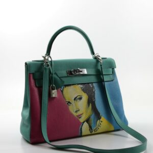Hermes Kelly 32 Turquoise